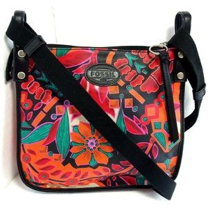 Fossil crossbody multi floral messenger bag